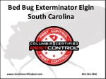 Bed Bug Exterminator Elgin South Carolina