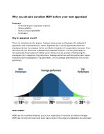 Why you should consider MDP before your next appraisal