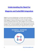 Understanding the Need For Magento and SuiteCRM Integration