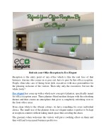 Refresh your Office Reception by Eco Elegant