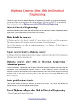 Diploma Courses After 10th In Electrical Engineering