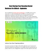 Best Startup Your Vacation rental Business - Appkodes