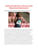 Sprint queen Hima Das: Is she the next big thing in brand endorsements?