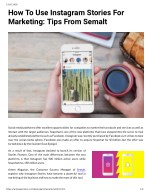How To Use Instagram Stories For Marketing: Tips From Semalt