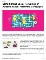 Semalt: Using Social Networks For Awesome Email Marketing Campaigns