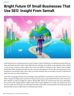 Bright Future Of Small Businesses That Use SEO: Insight From Semalt