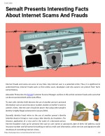 Semalt Presents Interesting Facts About Internet Scams And Frauds