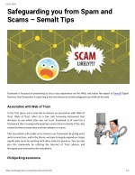 Safeguarding you from Spam and Scams – Semalt Tips