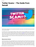 Twitter Scams – The Guide From Semalt
