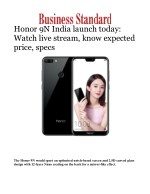 Honor 9N India launch today: Watch live stream, know expected price, specs