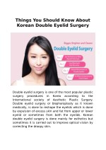 Things You Should Know About Korean Double Eyelid Surgery