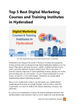 Top 5 Best Digital Marketing Courses and Training Institutes in Hyderabad