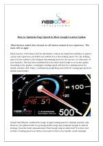 How to Optimize Page Speed to Meet Google's Latest Update