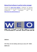 Mutual fund software is perfect online manager