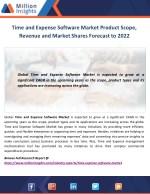 Time and Expense Software Market Product Scope, Revenue and Market Shares Forecast to 2022