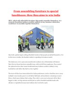 From assembling furniture to special lunchboxes: How Ikea aims to win India