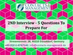 2ND Interview - 5 Questions To Prepare For
