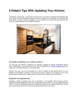 5 Helpful Tips With Updating Your Kitchen
