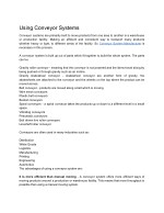 Using Conveyor Systems
