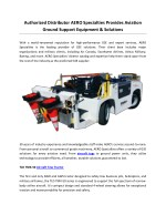 Authorized Distributor AERO Specialties Provides Aviation Ground Support Equipment & Solutions