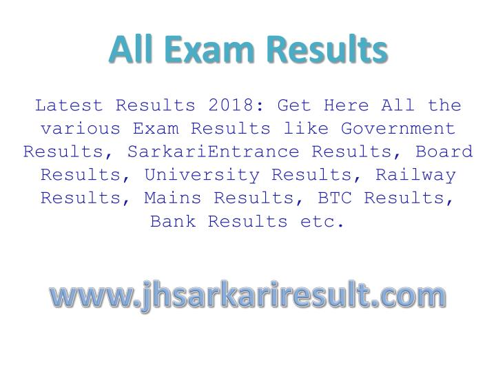 all exam results n.