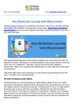 How Blockchain can help with HR processes?