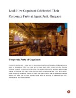 Look How Cognizant Celebrated Their Corporate Party at Agent Jack, Gurgaon