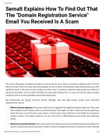 "Semalt Explains How To Find Out That The ""Domain Registration Service"" Email You Received Is A Scam"
