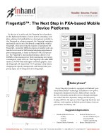 "Fingertip5â""¢: The Next Step in PXA-based Mobile Device Platforms"