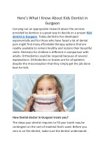 Here's What I Know About Kids Dentist in Gurgaon