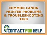 How to Solve Common Canon Printer Problem