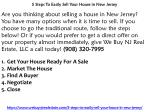 5 Steps To Easily Sell Your House in New Jersey