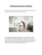 Professional Cleaners in Chelsea