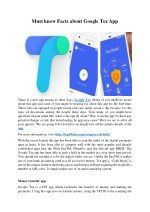 Must know Facts about Google Tez App