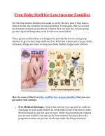 Free Baby Stuff For Low Income Families | Startgrants