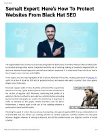 Semalt Expert: Here's How To Protect Websites From Black Hat SEO