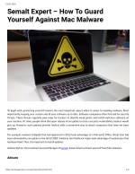 Semalt Expert – How To Guard Yourself Against Mac Malware