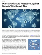 DDoS Attacks And Protection Against Botnets With Semalt Tips