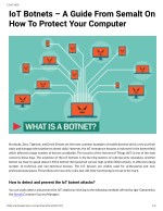 IoT Botnets  A Guide From Semalt On How To Protect Your Computer