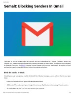 Semalt: Blocking Senders In Gmail