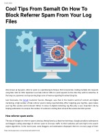 Cool Tips From Semalt On How To Block Referrer Spam From Your Log Files