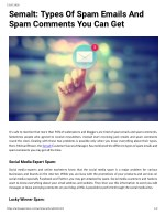 Semalt: Types Of Spam Emails And Spam Comments You Can Get