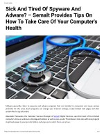 Sick And Tired Of Spyware And Adware? – Semalt Provides Tips On How To Take Care Of Your Computer's Health