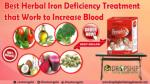 Best Herbal Iron Deficiency Treatment that Work to Increase Blood