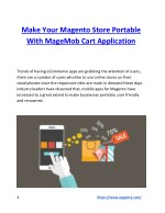 Make Your Magento Store Portable With MageMob Cart Application