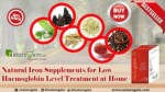 Natural Iron Supplements for Low Haemoglobin Level Treatment at Home