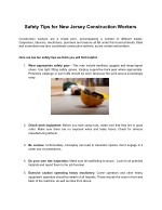 Safety Tips for New Jersey Construction Workers