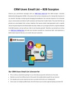 CRM Users Email List | CRM Users Mailing Data | CRM Users Mailing List