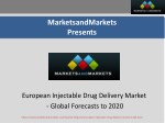 European Injectable Drug Delivery Market worth $207.3 Billion by 2020