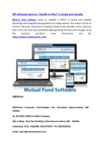"Mutual fund software name as ""wealth e office"" is slowly and steadily"